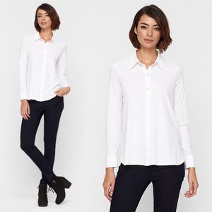 Eileen Fisher Tops - • Eileen Fisher • White Classic Collar Shirt